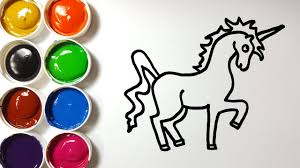 how to draw unicorn coloring pages for kids art colors for