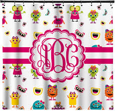 girly monsters shower curtain personalized potty concepts
