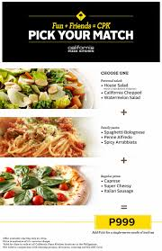 California Pizza Kitchen Coupon Code by Pick Your Match Promo At California Pizza Kitchen