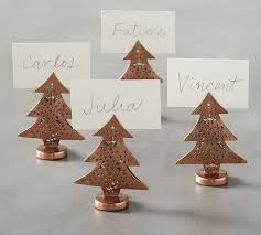 copper tree place card holder set of 4 pottery barn