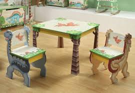 childrens dinosaur kingdom table and 2 chairs set