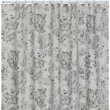 Botanical Shower Curtains Sketchbook Botanical Toile Shower Curtain