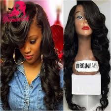 body wave hair with bangs body wave brazilian hair lace front wig with bangs baby hair