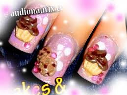 sweets cupcakes u0026 cookies 3d acrylic nail art design tutorial