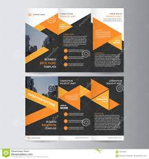 orange black trifold leaflet brochure flyer template design book