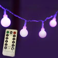 homeleo 5 m 50 led battery operated globe string lights 8