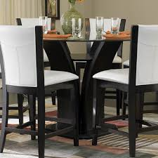 White Leather Dining Chairs Canada Dining Table Astonishing Glass 48 Inch Round Dining Table