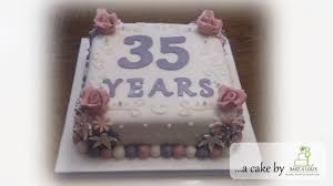 35 year anniversary 35 years wedding anniversary cake bakealous