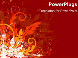 halloween background powerpoint powerpoint template autumn fall colored leaves with pumpkins