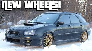 subaru blobeye wagon subaru wrx wagon gets new wheels enkei ts 10 youtube