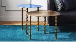 side table set of 2 2 piece bamboo table set reviews cb2