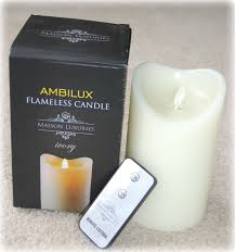 decor u0026 tips ambilux flameless candles and remote control led