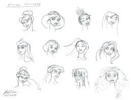 disney princess head sketches by hanvii82arts on deviantart