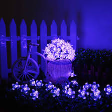 Solar Powered Patio Lights String by Agptek Waterproof 50 Led Solar Powered Blossom String Lights For