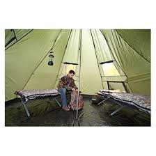 guide gear deluxe teepee tent 14 u0027 x 14 u0027 581521 outfitter