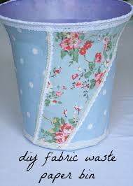 diy fabric waste paper bin