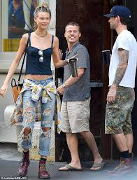 adam levine and wife behati prinsloo step out in matching dr