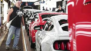mustangs the rock 2015 ford mustang production begins in flat rock marketwatch