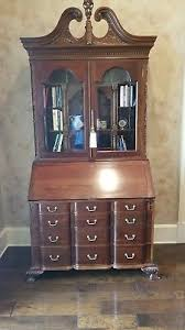 secretary desk with bookcase henredon four centuries collect oak bombe secretary desk bookcase