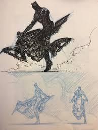 justice league u0027 production designer shares sketches of batman u0027s
