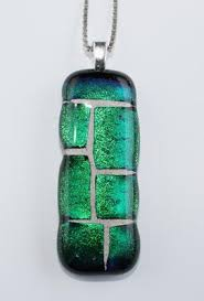 mosaic pet memorial fused glass pendant column limelight designs