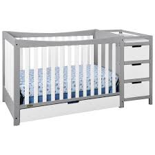 How To Convert Graco Crib To Full Size Bed by Graco Remi 4 In 1 Convertible Crib And Changer White Pebble Grey