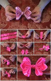 ribbon for hair how to make bow of satin ribbon for hair usefuldiy