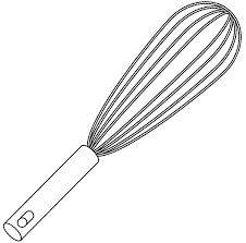 coloriage ustensiles de cuisine dessin à imprimer un fouet dory fr coloriages