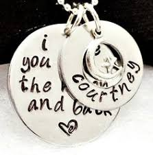 I Love You To The Moon And Back Personalized Necklace I Love You To The Moon And Back And On