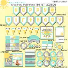 You Are My Sunshine Decorations Sunshine Party Sunshine Party Ideas Mimi U0027s Dollhouse