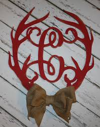 bone collector home decor wood antler initial 18