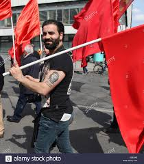 Cuban Flag Tattoos Smiling Man With Che Guevara Tattoo And A Red Flag In The May Day