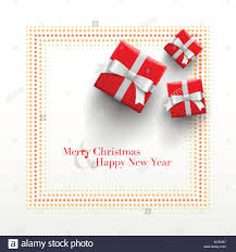 new year card design merry christmas and happy new year card design gift boxes