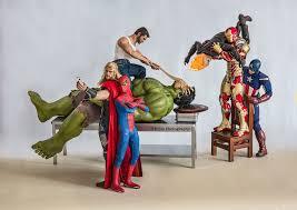photographer documents secret life of superhero toys