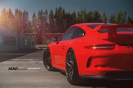 porsche gt3 red porsche 911 gt3 shows off on adv 1 wheels sssupersports com