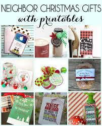 neighbor gift idea for the holidays and free printable gift tags