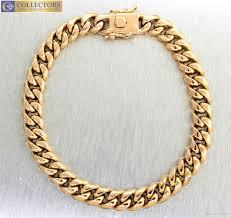 rose gold link bracelet images Online cheap men 39 s modern 18k 750 rose gold 8 25 curb link cuban jpg