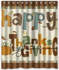 happy thanksgiving day custom bathroom curtain shower curtains