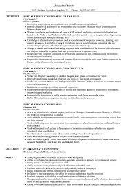 event coordinator resumes special events coordinator resume sles velvet