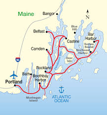Map Of Maine Coast Full Welcome New