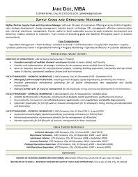 Facility Manager Resume Supply Chain Resumes Chain Manager Resume Resume Sample 17