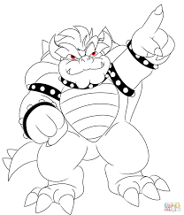 bowser coloring pages free coloring pages