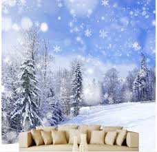 online buy wholesale snow wall mural from china snow wall mural 3d wall murals wallpaper 3d snow in the pine forest 3d stereoscopic wallpaper home decoration