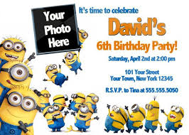 diy minion invitations despicable me birthday invitations templates