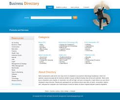 product and service directory psd 003 website template psd sale
