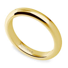 comfort fit wedding bands comfort fit wedding ring in yellow gold 3mm