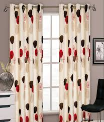 Cream Silk Drapes Red Floral Curtains Red Morocco Lined Eyelets Dunelm Pinterest