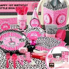 cheetah print party supplies 1st birthday zebra print party supplies image inspiration of
