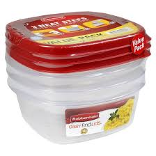 rubbermaid easy find lids food storage container 3ct target
