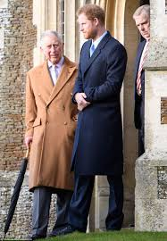 where does prince harry live prince philip charles and harry head out for christmas church